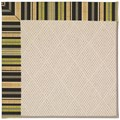 Capel Rugs Creative Concepts White Wicker - Vera Cruz Coal (350) Octagon 12