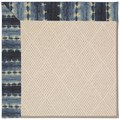 Capel Rugs Creative Concepts White Wicker - Java Journey Indigo (460) Octagon 12