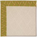 Capel Rugs Creative Concepts White Wicker - Bamboo Tea Leaf (236) Rectangle 3