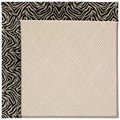 Capel Rugs Creative Concepts White Wicker - Wild Thing Onyx (396) Rectangle 3