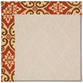 Capel Rugs Creative Concepts White Wicker - Shoreham Brick (800) Rectangle 3