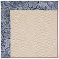 Capel Rugs Creative Concepts White Wicker - Paddock Shawl Indigo (475) Rectangle 4