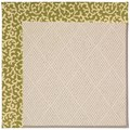 Capel Rugs Creative Concepts White Wicker - Coral Cascade Avocado (225) Rectangle 6
