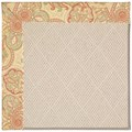 Capel Rugs Creative Concepts White Wicker - Paddock Shawl Persimmon (810) Rectangle 7