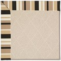 Capel Rugs Creative Concepts White Wicker - Granite Stripe (335) Rectangle 8