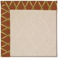 Capel Rugs Creative Concepts White Wicker - Bamboo Cinnamon (856) Rectangle 8