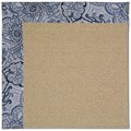 Capel Rugs Creative Concepts Sisal - Paddock Shawl Indigo (475) Rectangle 4