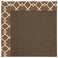 Capel Rugs Creative Concepts Java Sisal - Arden Chocolate (746) Octagon 10