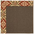 Capel Rugs Creative Concepts Java Sisal - Shoreham Brick (800) Rectangle 3
