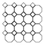 "Marazzi Campione: Mosaic Armstrong - 2"" x 2"""