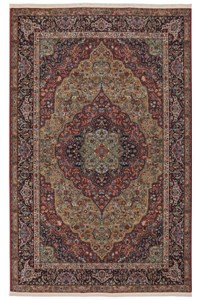Nourison Collection Library Alexandria (AL04-RED) Rectangle 7'9