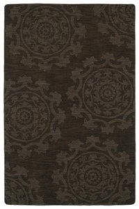 Nourison Collection Library Tropics (TS05-BLK) Rectangle 3'6