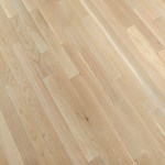 "Bruce Fulton Strip Oak: Winter White 3/4"" x 2 1/4"" Solid Oak Hardwood CB1323"
