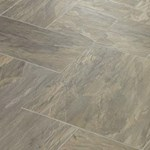 Faus Floor Masterpieces Collection: Cottage Slate Oxford 10mm Laminate With Attached Pad F-751158