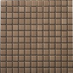 "Emser Lucente Solids Glass Mosaic 12.5"" x 12.5"" : Soft Mauve"