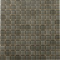 "Emser Lucente Solids Glass Mosaic 12.5"" x 12.5"" : Pewter"