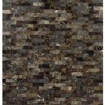 "MS International Emperador Splitface Marble Mosaic 12"" x 12"" : SMOT-EMP-SFIL10MM"