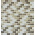"MS International Scenic Valley Mini Brick Glass Mosaic 12"" x 12"" : SMOT-GLSMBRK-SV8MM"