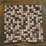 "Glass Tile & Stone Stone Material Series Mosaic 12"" x 12"" : AL608"