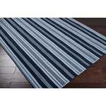 "Surya Country Living Farmhouse Stripes Silvered Gray (FAR-7000) Square 0'6"" x 0'6"""