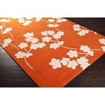 "Surya Jill Rosenwald Zuna Orange-Red (ZUN-1066) Rectangle 3'3"" x 5'3"""